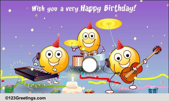 Funny Singing Birthday Cards  The Happy Song Free Songs eCards Greeting Cards