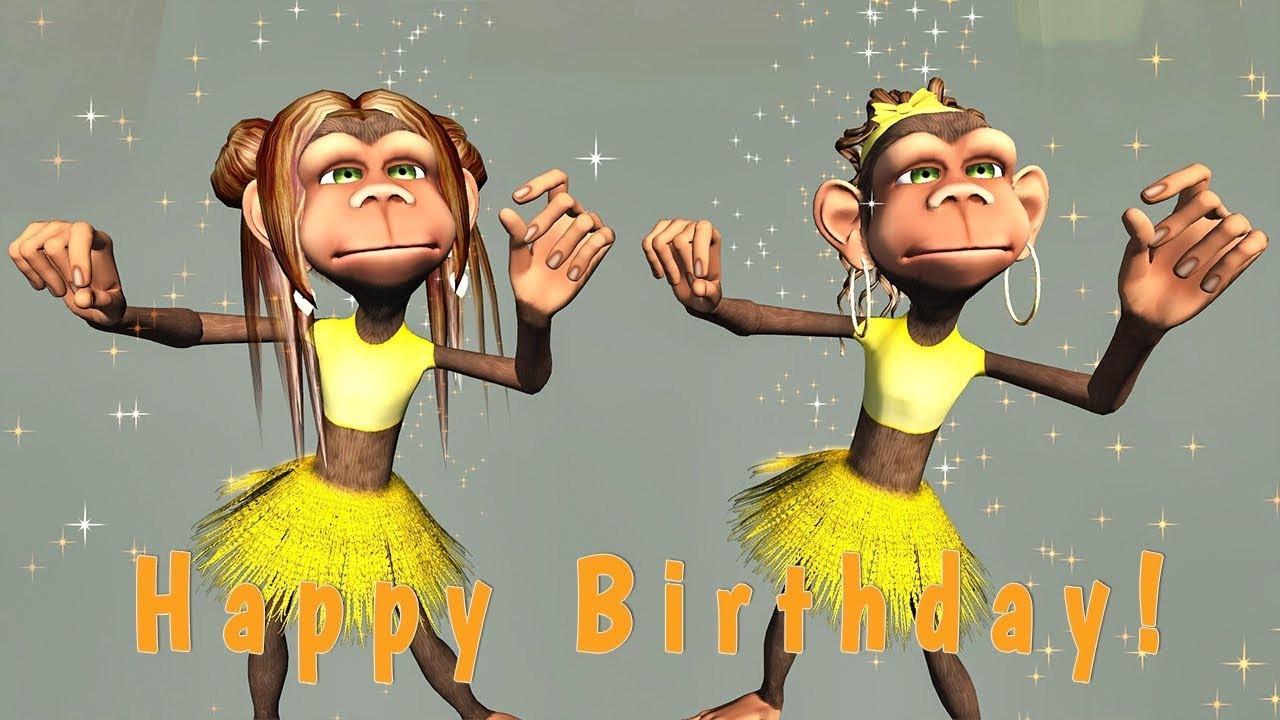 Funny Singing Birthday Cards  Funny Happy Birthday Song Monkeys sing Happy Birthday