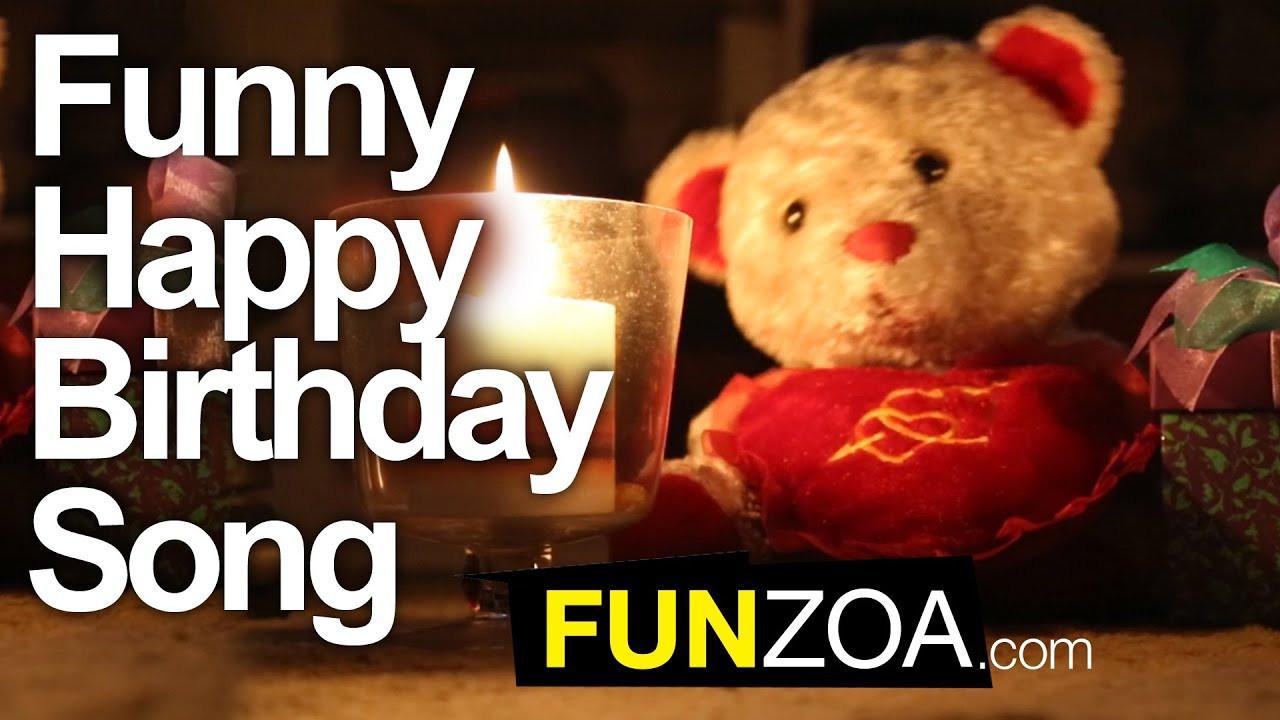 Funny Singing Birthday Cards  Funny Happy Birthday Song Cute Teddy Sings Very Funny