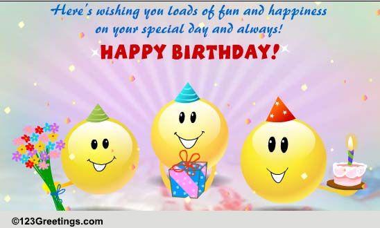 Funny Singing Birthday Cards  Funny Singing Smileys Free Funny Birthday Wishes eCards