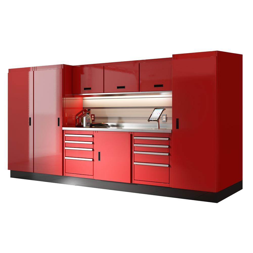 Garage Organization Home Depot  Moduline Select Series 75 in H x 144 in W x 22 in D