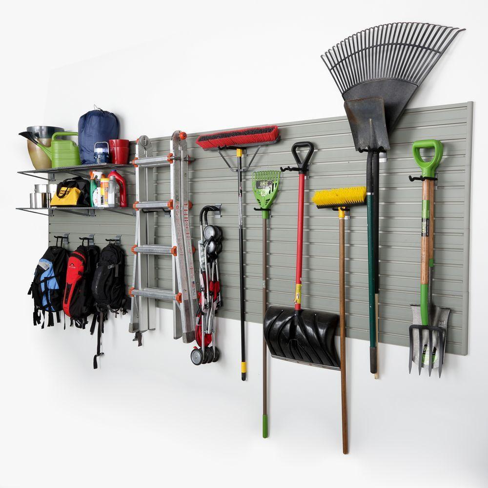 Garage Organization Home Depot  Flow Wall Modular Garage Wall Panel Storage Set with