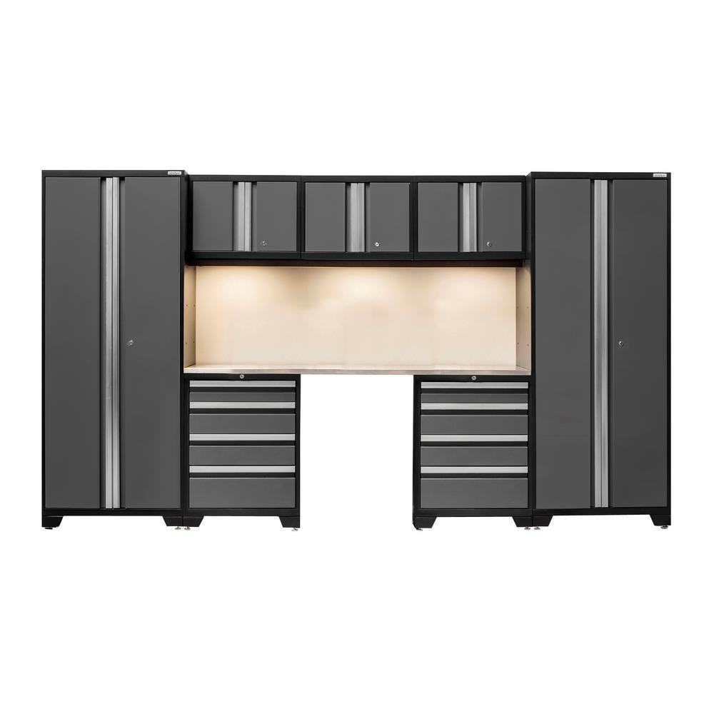 Garage Organization Home Depot  NewAge Products Bold 3 0 77 in H x 132 in W x 18 in D