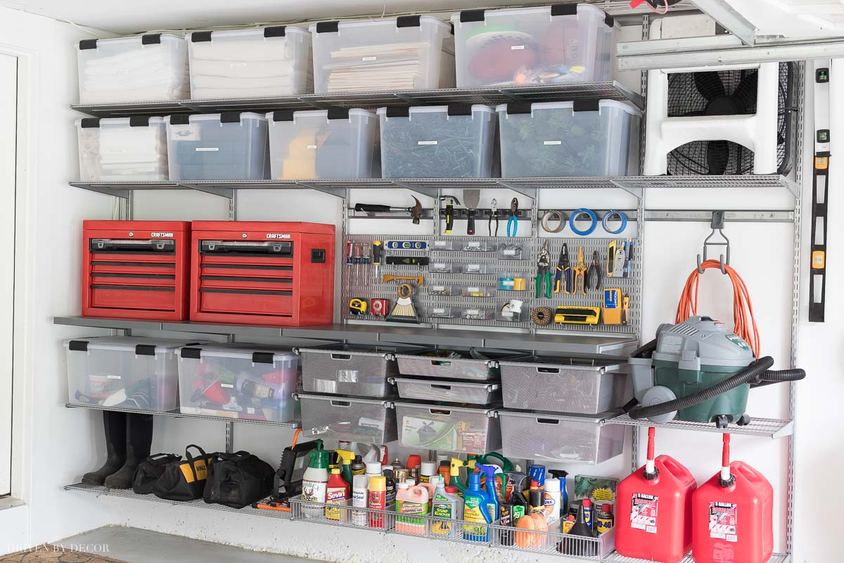 Garage Organization Systems  Garage Organization Tackling Our Crazy Mess of a Garage