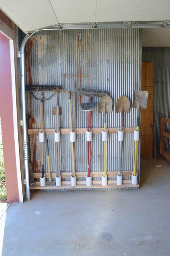 Garage Tool Organizer  Build a yard tool organizer from PVC