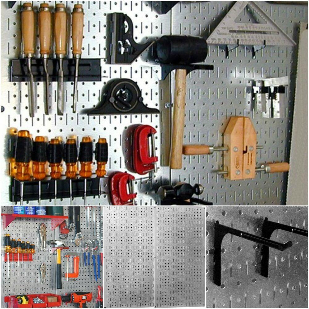 Garage Tool Organizer  Pegboard Tool Organizer Wall Mount Garage Storage Metal