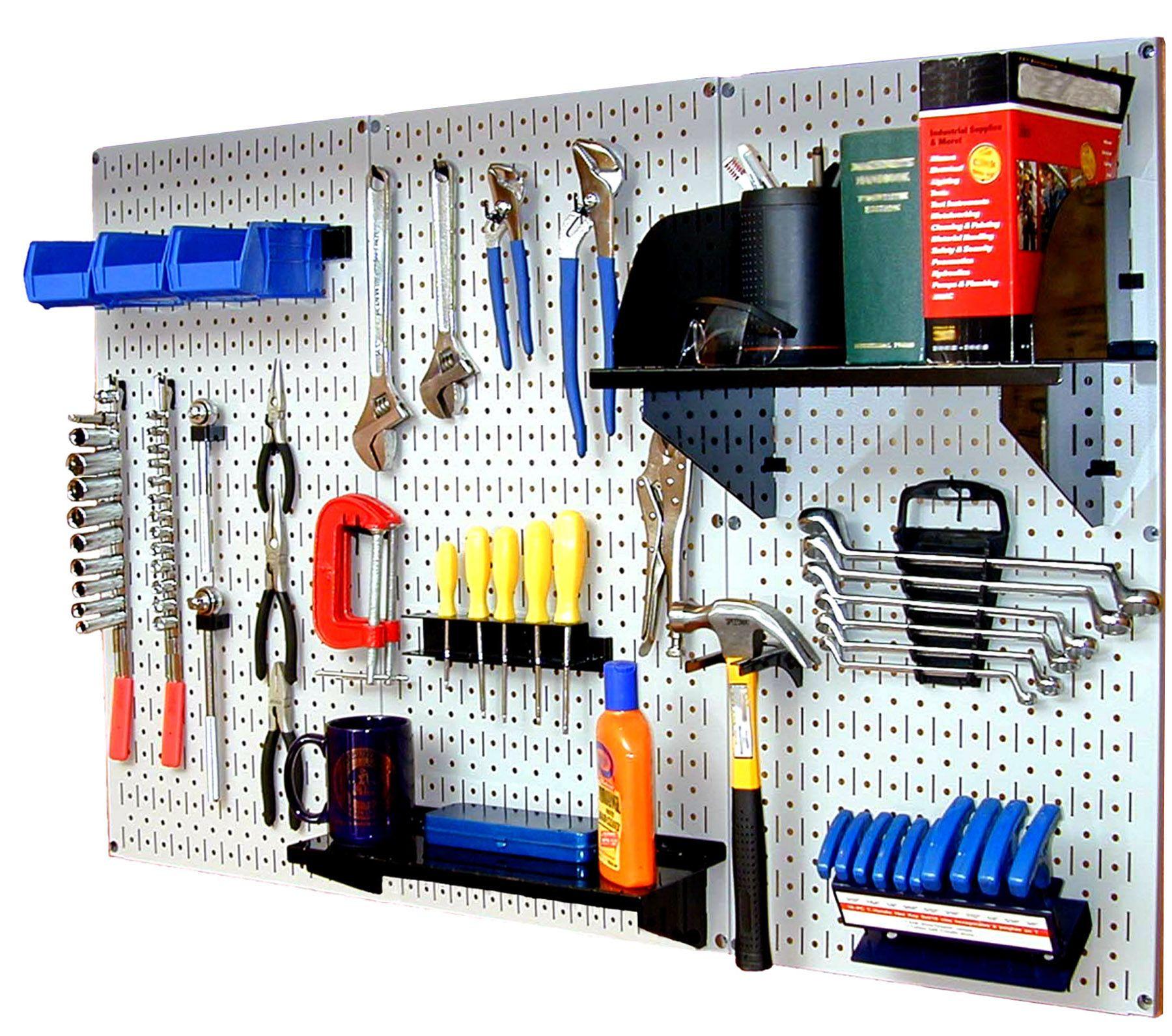 Garage Tool Organizer  Wall Control Standard Workbench Metal Pegboard Tool