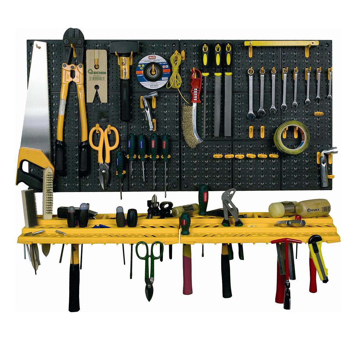 Garage Tool Organizer  Garage Tool Rack Wall Workshop Storage Kit Plastic