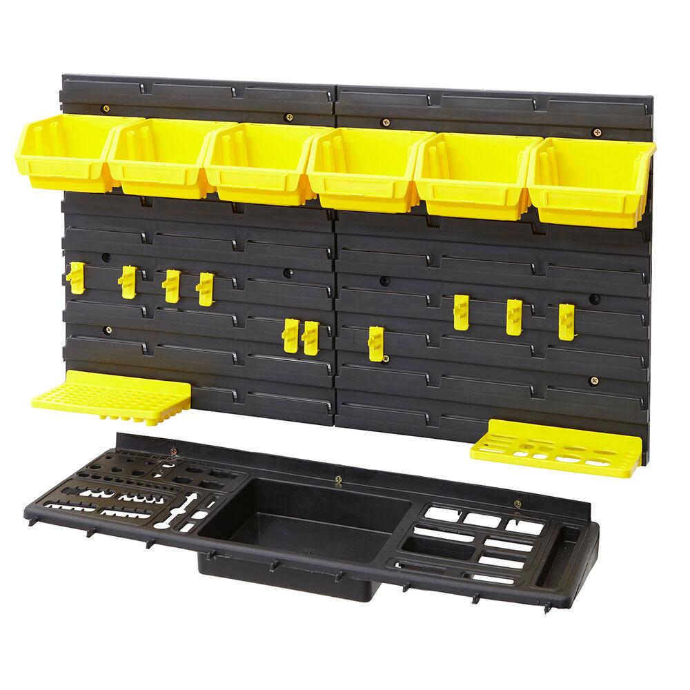Garage Tool Organizer  Garage Shed Workshop Wall Tool Storage Rack Kit Inc Tool