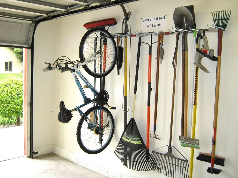 Garage Tool Organizer  Bicycle Storage Garden Tool Rack Garage Organizer