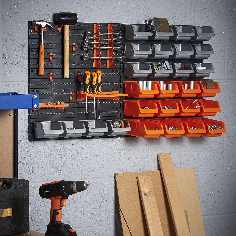 Garage Tool Organizer  Garage Storage System Wall Mount Pegboard Hook Accessories