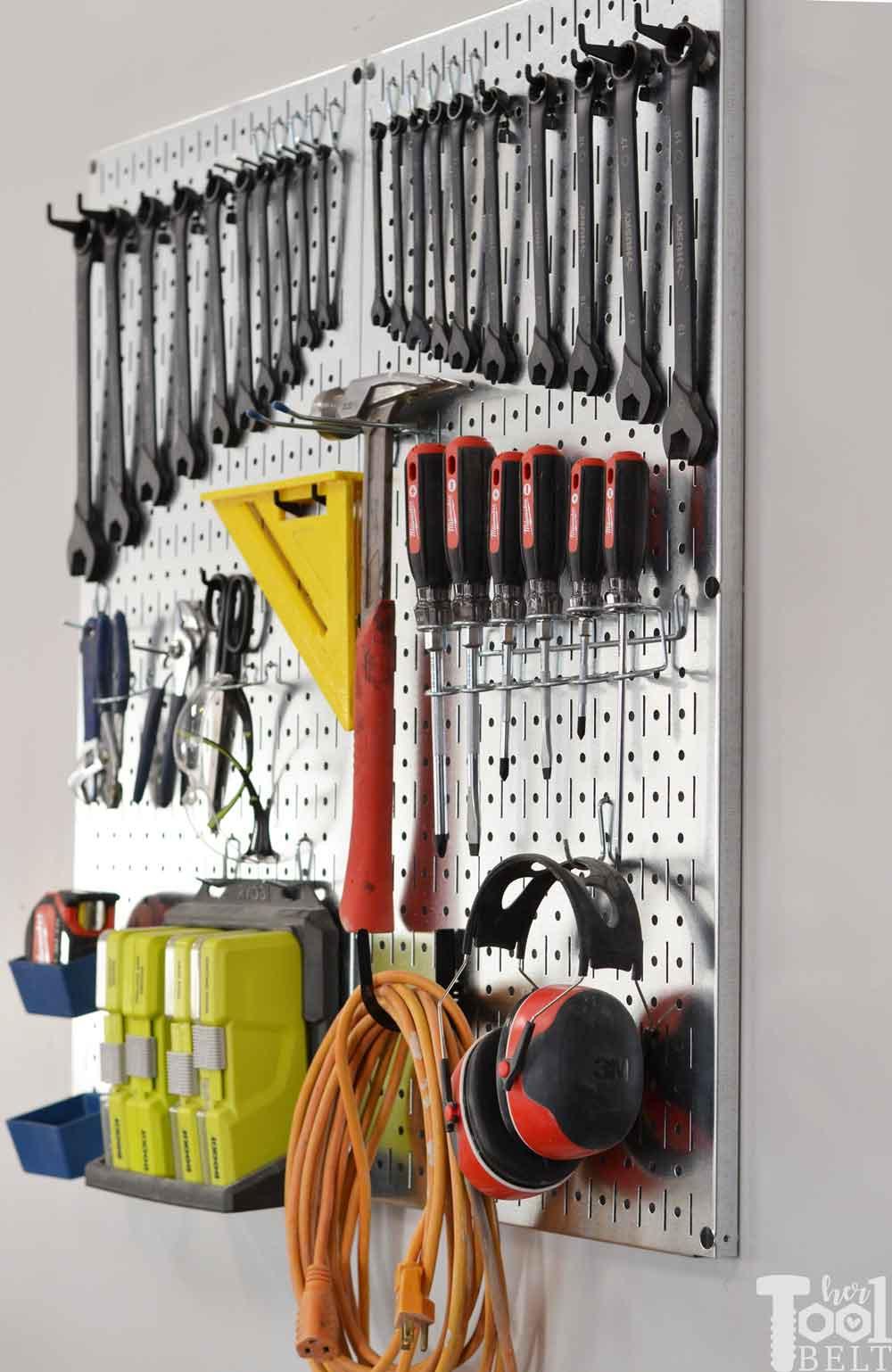 Garage Tool Organizer  Garage Tool Organization Ideas Her Tool Belt
