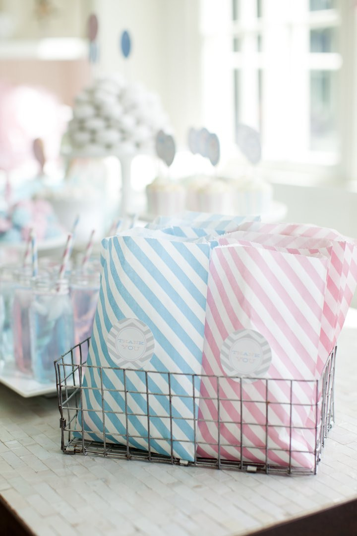 Gender Reveal Party Favor Ideas  Gender Reveal Party for Pottery Barn Kids