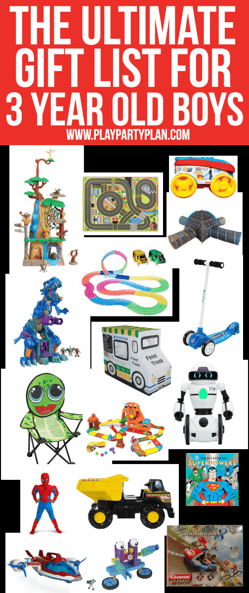 Gift Ideas For 3 Year Old Boys  The ultimate list of t ideas for a 3 year old boy