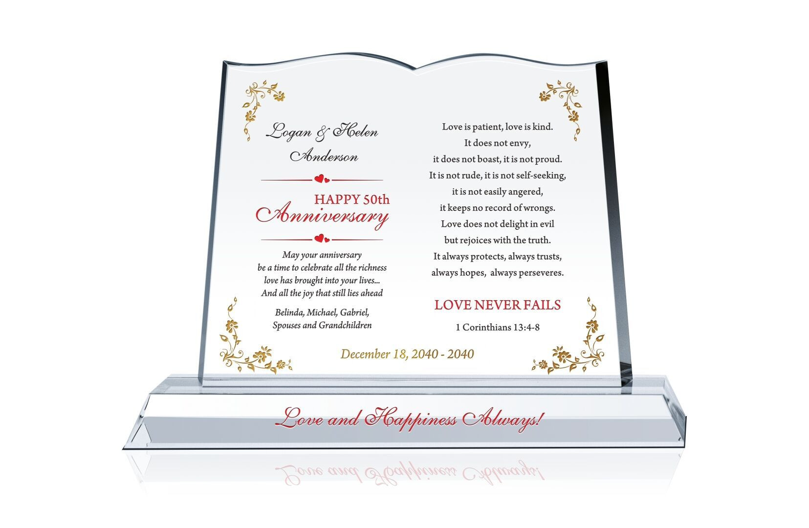Gift Ideas For Anniversary Couple  Anniversary Gift for Couple Crystal Central