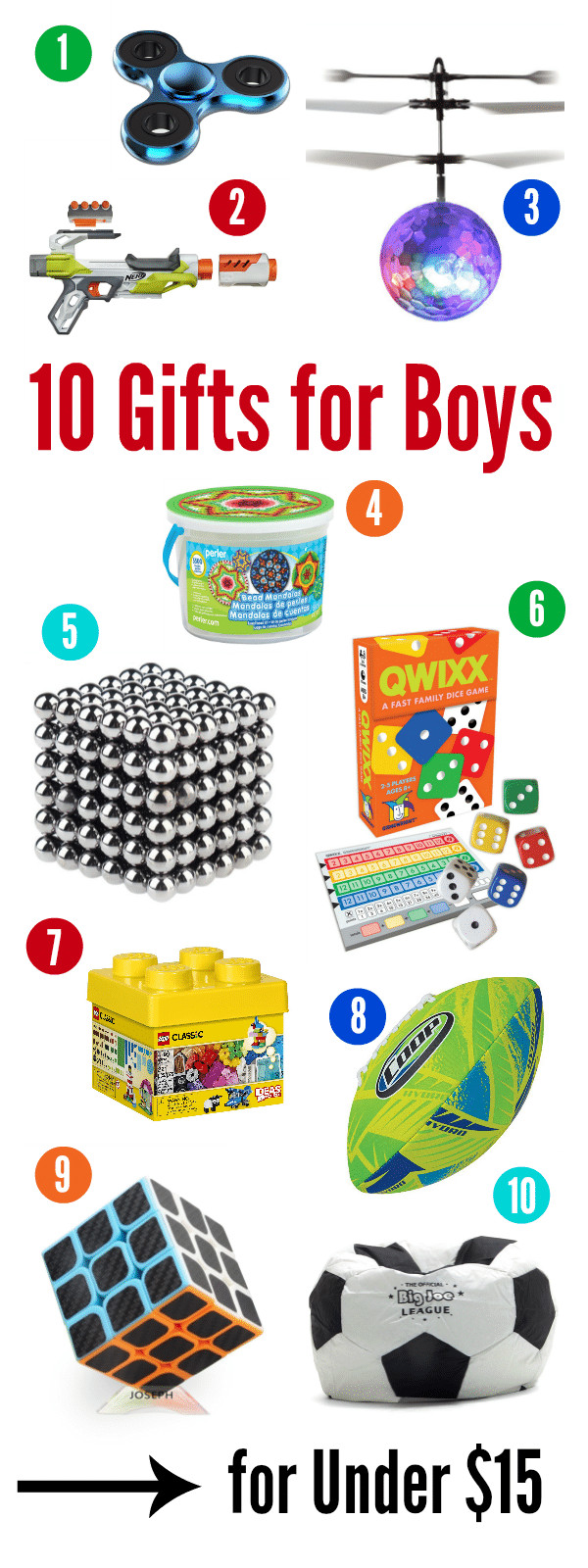 Gift Ideas For Boys 10  10 Best Gifts for a 10 Year Old Boy for Under $15 – Fun