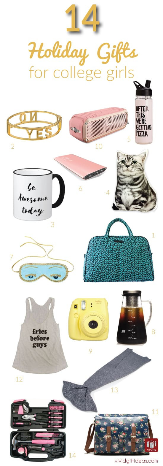 Gift Ideas For Girls  14 Great Christmas Gift Ideas for College Girls Vivid s
