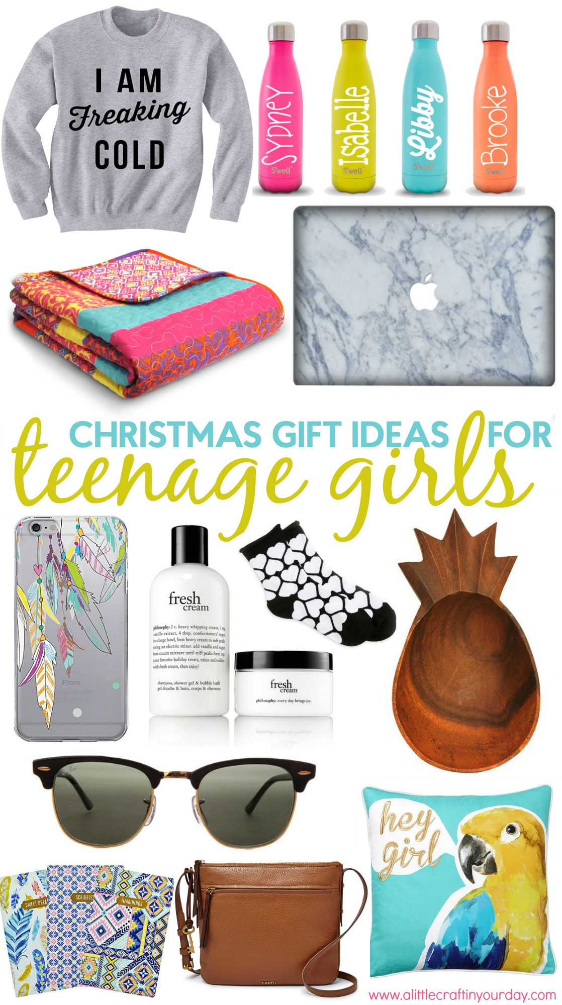 Gift Ideas For Girls  Christmas Gift Ideas for Teen Girls A Little Craft In