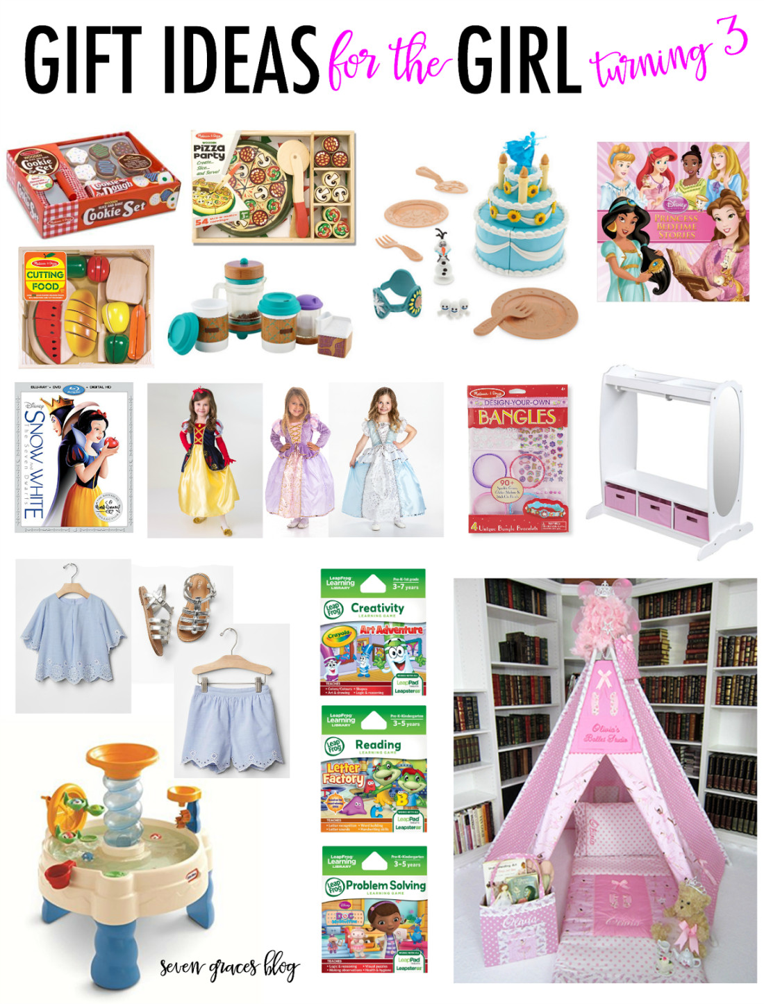 Gift Ideas For Girls  Gift Ideas for the Girl Turning Three Seven Graces