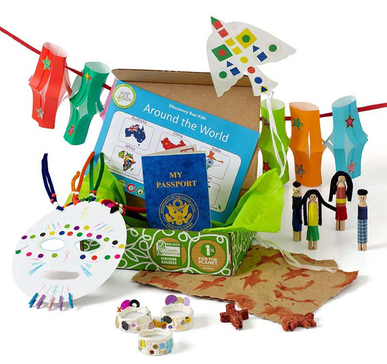 Gift Subscription For Kids  Around The World Discovery Box