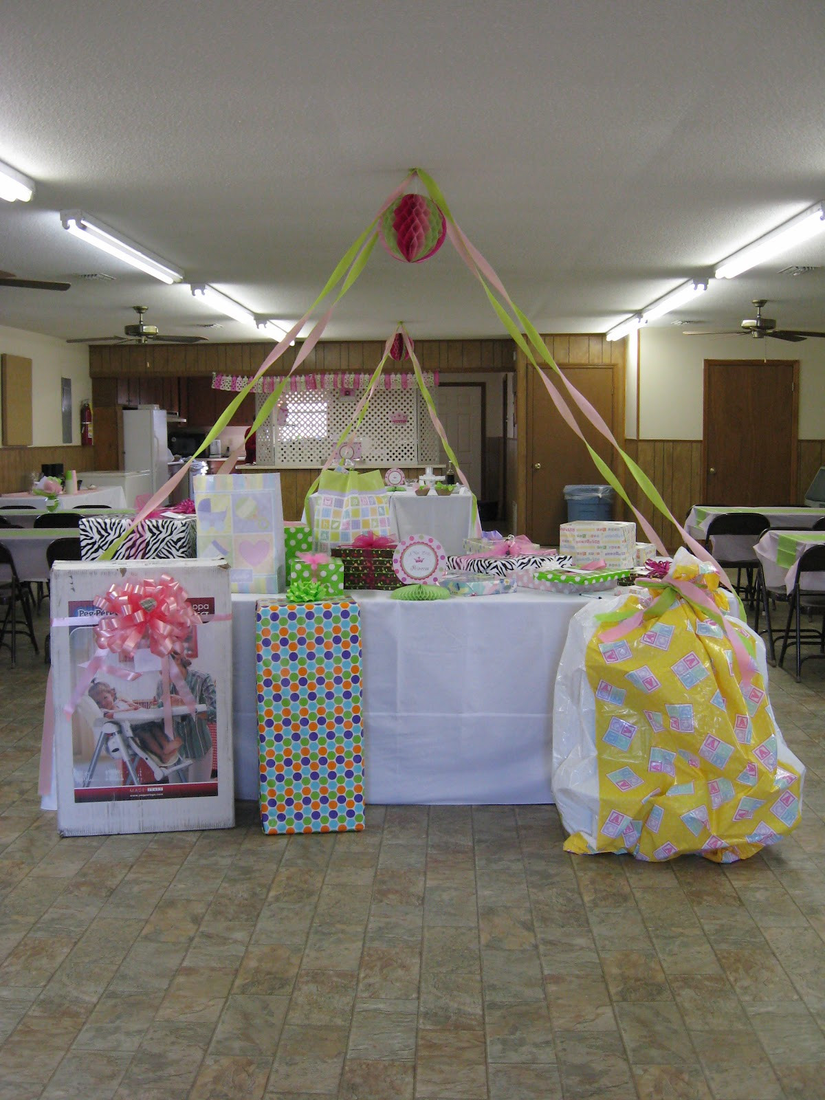 Gift Table Baby Shower Ideas  A Home in the Country Baby Shower