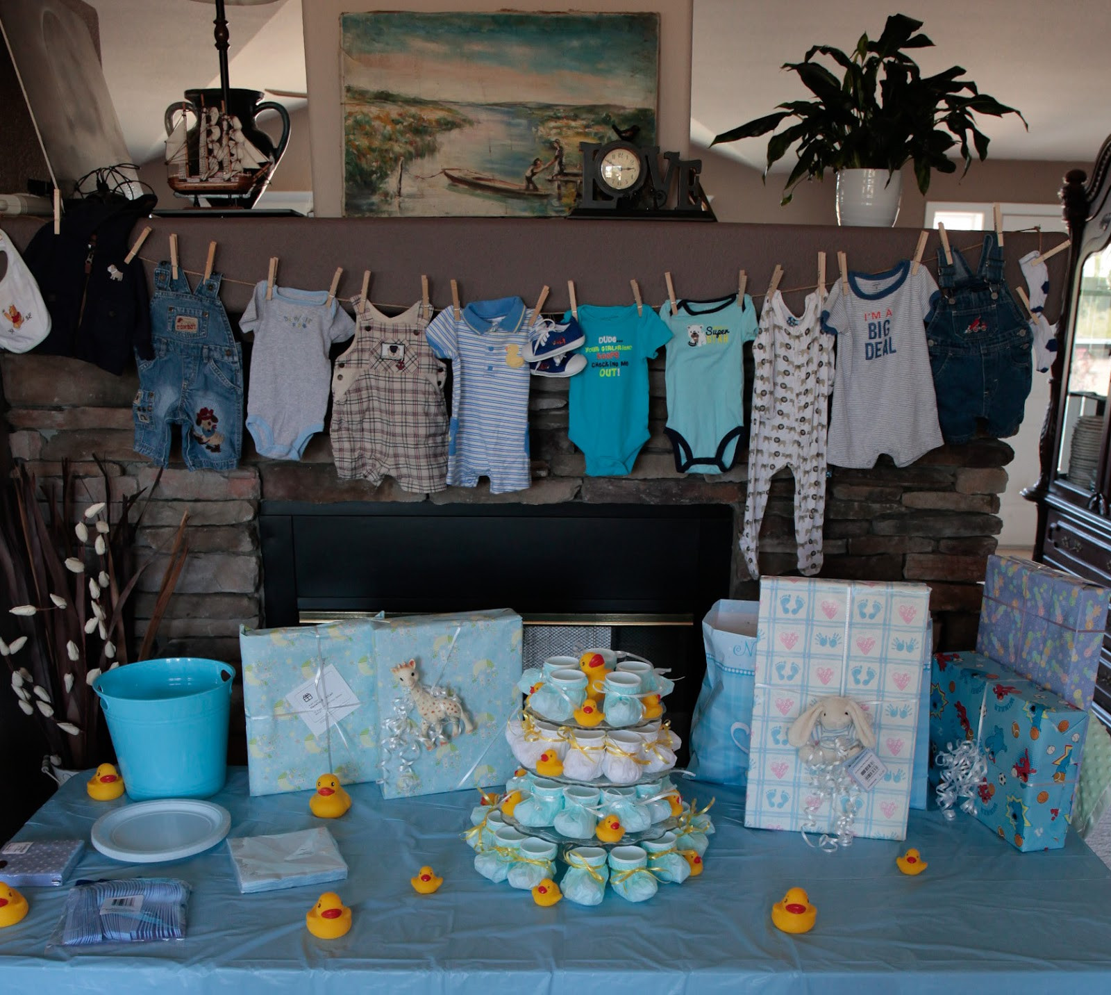 Gift Table Baby Shower Ideas  Swiss Laundry Little Boy Blue Baby Shower Decorations