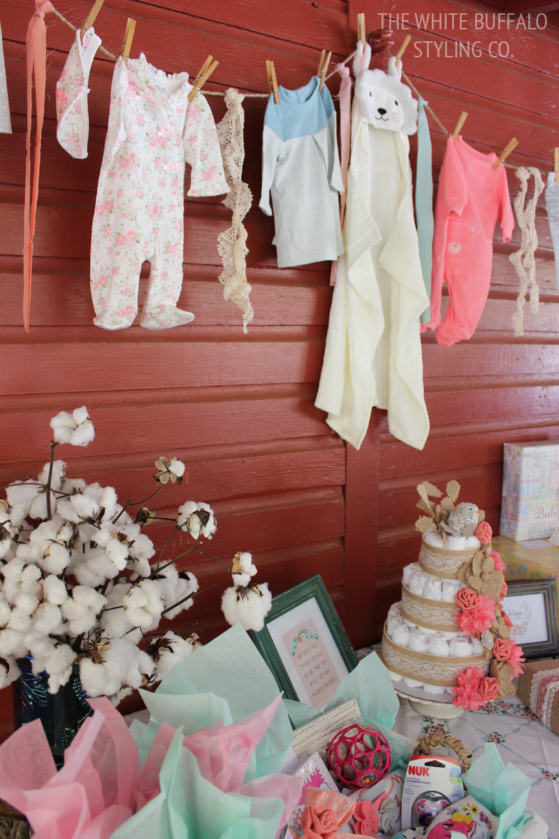 Gift Table Baby Shower Ideas  Vintage & Rustic Fall Baby Shower