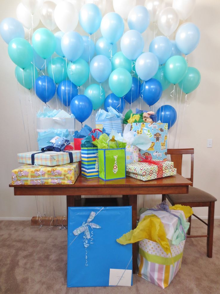 Gift Table Baby Shower Ideas  Balloon Decoration Ideas For A Baby Shower