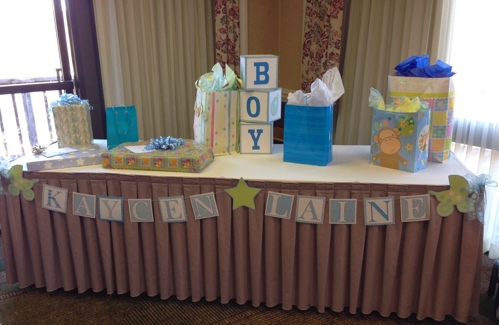 Gift Table Baby Shower Ideas  Mrs Crafty Adams Baby Shower Decorations