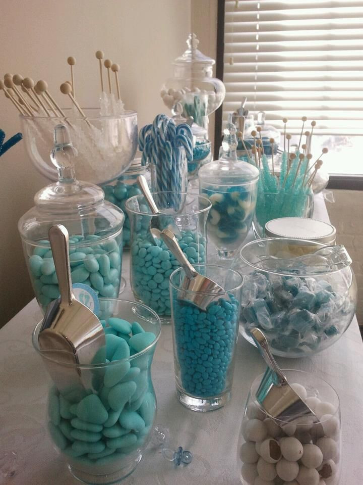 Gift Table Baby Shower Ideas  My baby shower candy bar Instead of sending guests home