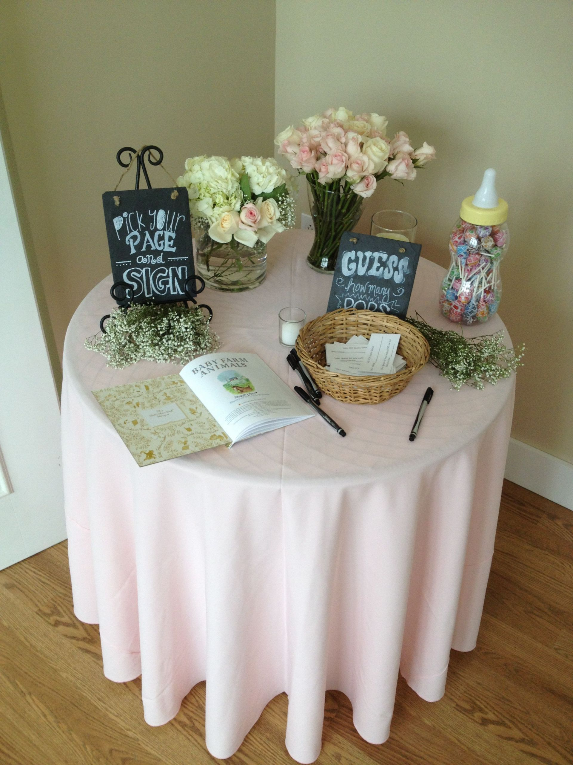 Gift Table Baby Shower Ideas  Entrance Table at a baby shower