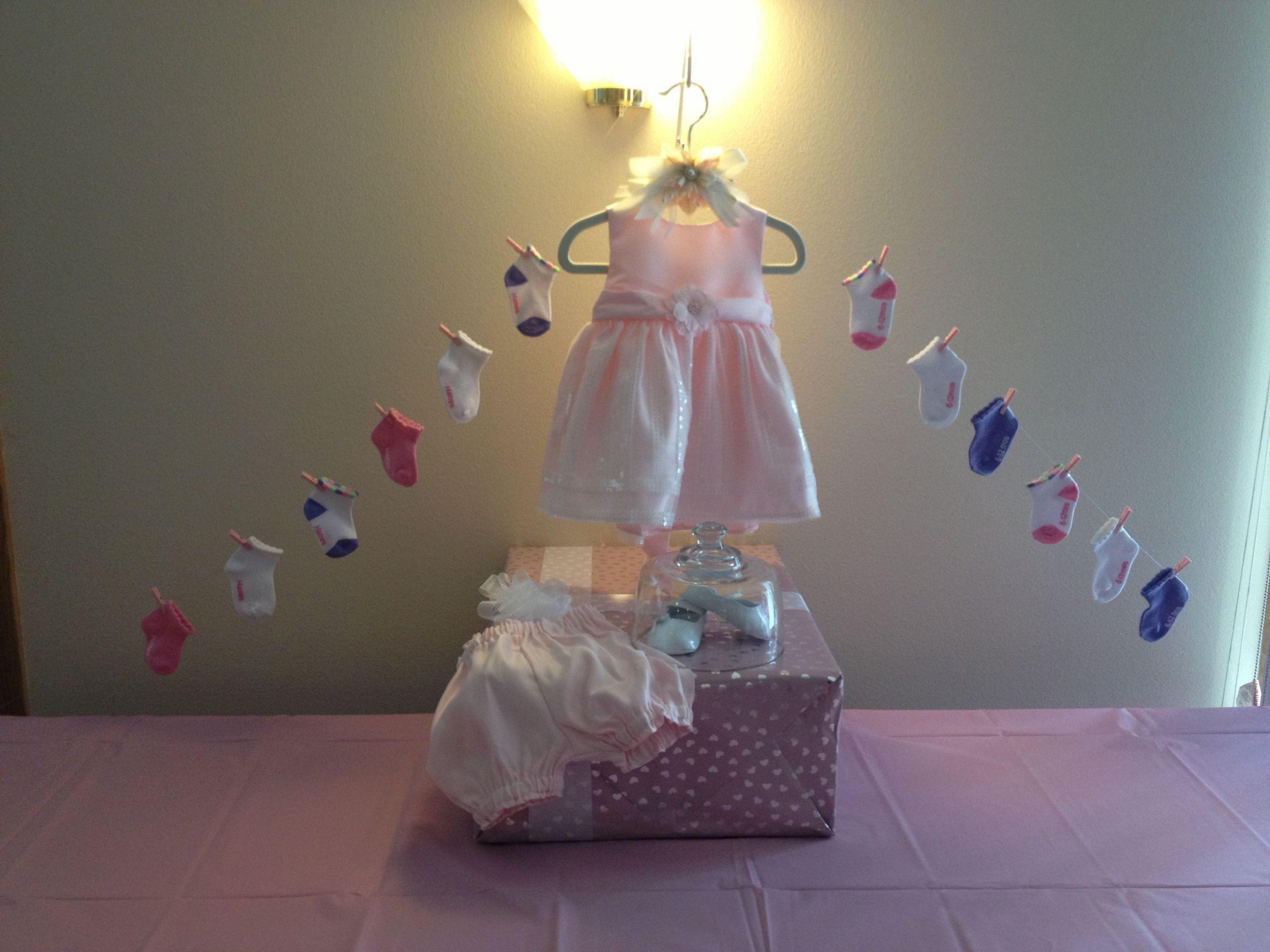 Gift Table Baby Shower Ideas  Baby girl shower t table Baby shower ideas