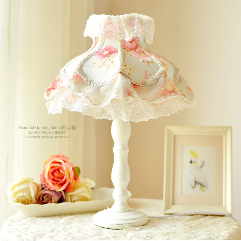 Girls Bedroom Table Lamp  European style lamp Lace table lamp Princess Room girls