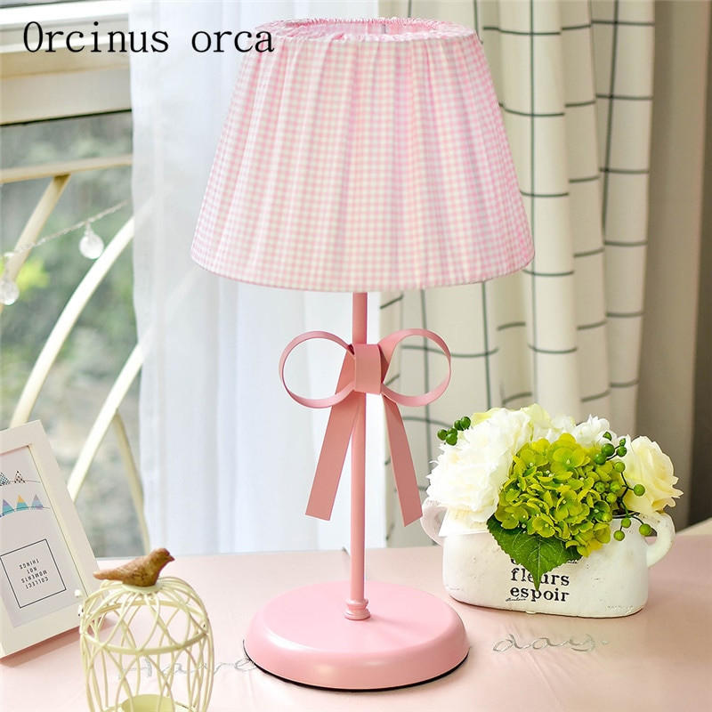 Girls Bedroom Table Lamp  The small fresh and lovely bowknot desk lamp children room