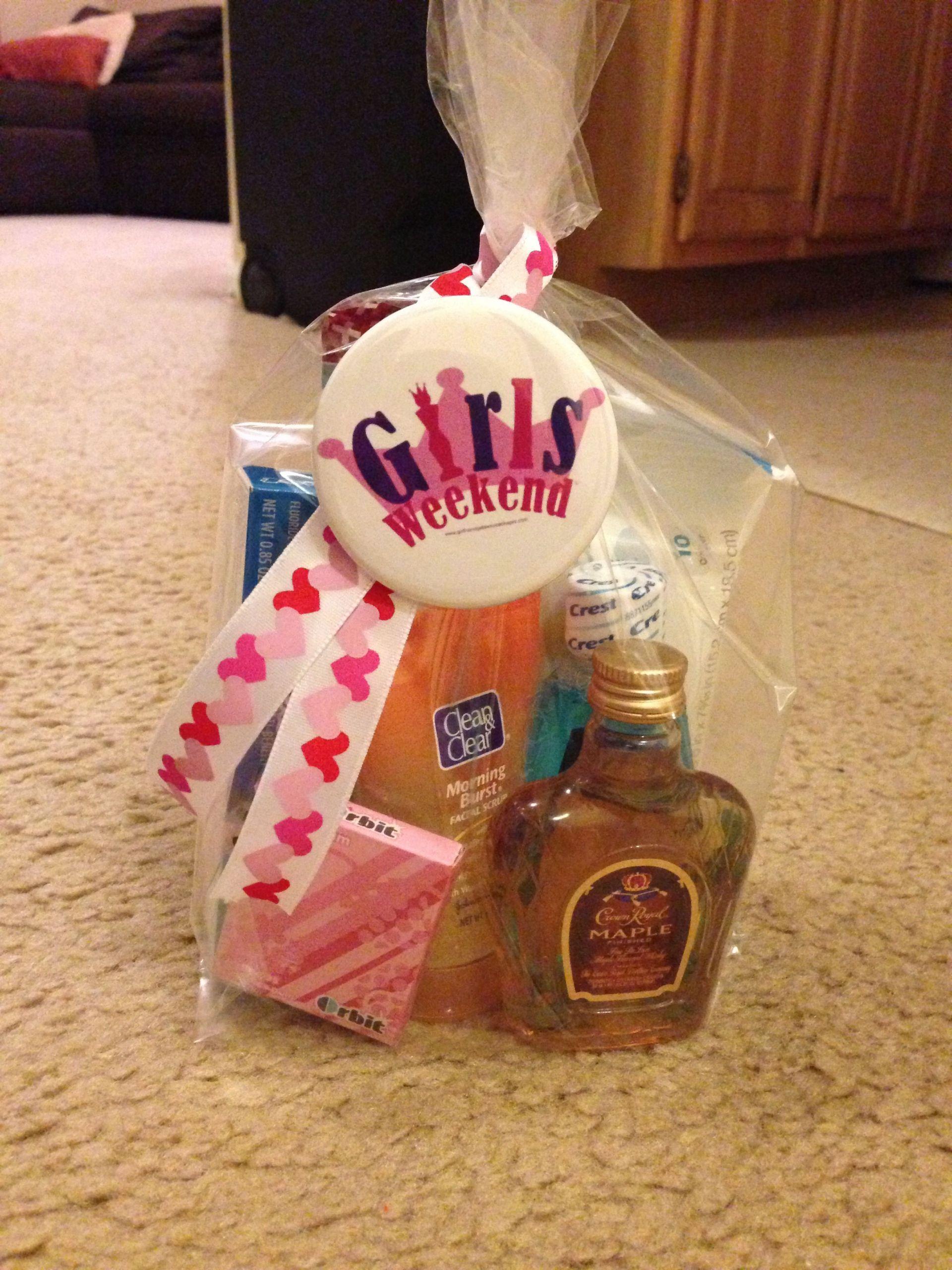 Girls Getaway Gift Ideas  Girls weekend trip little goo bag