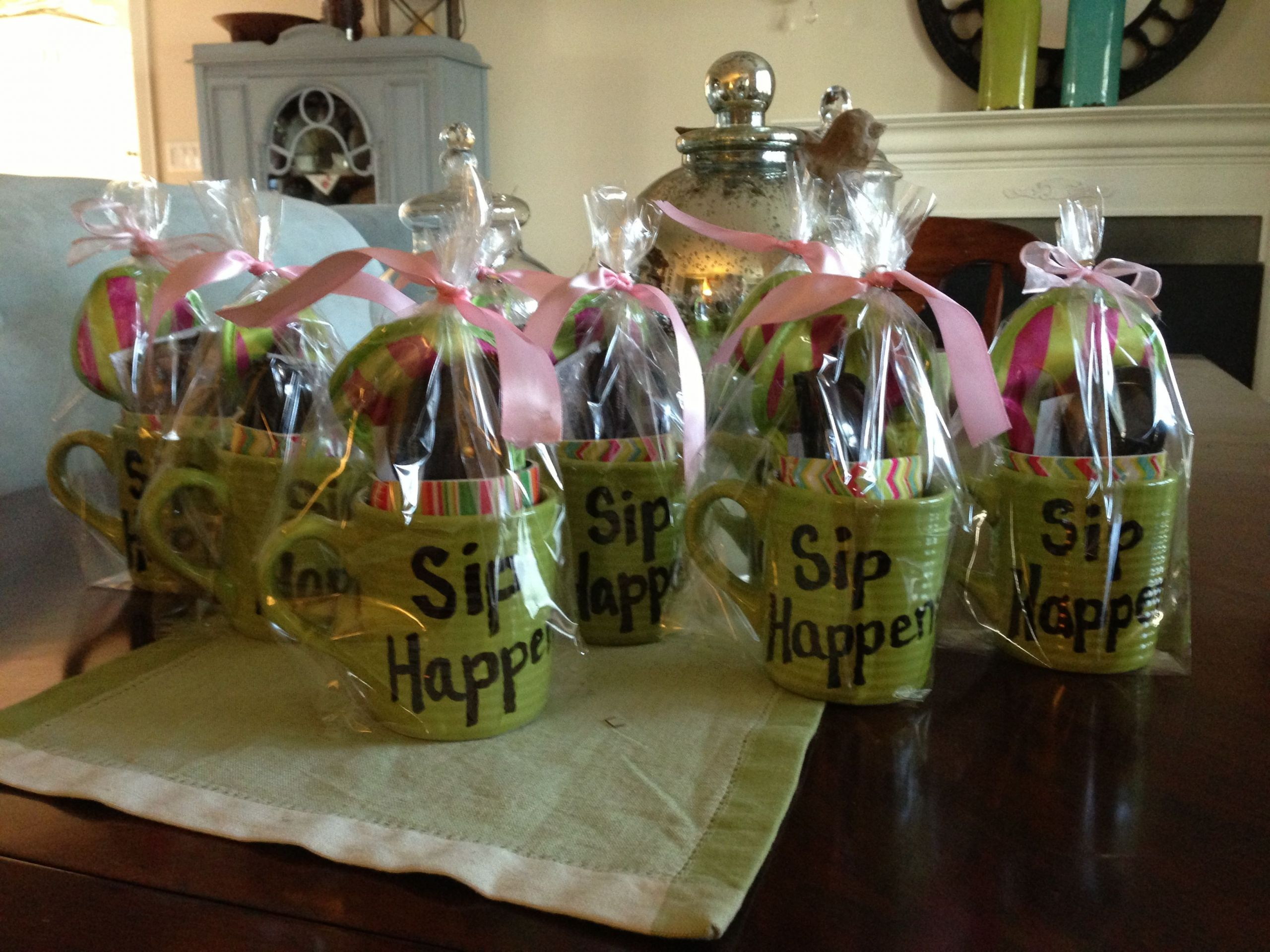 "Girls Getaway Gift Ideas  Girls Weekend Gifts Mug with ""Sip Happens "" Dollar store"