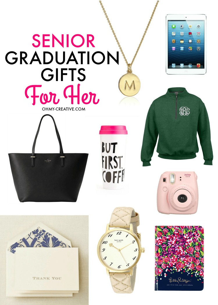 Grad Gift Ideas For Girls  Senior Graduation Gifts for Her Oh My Creative