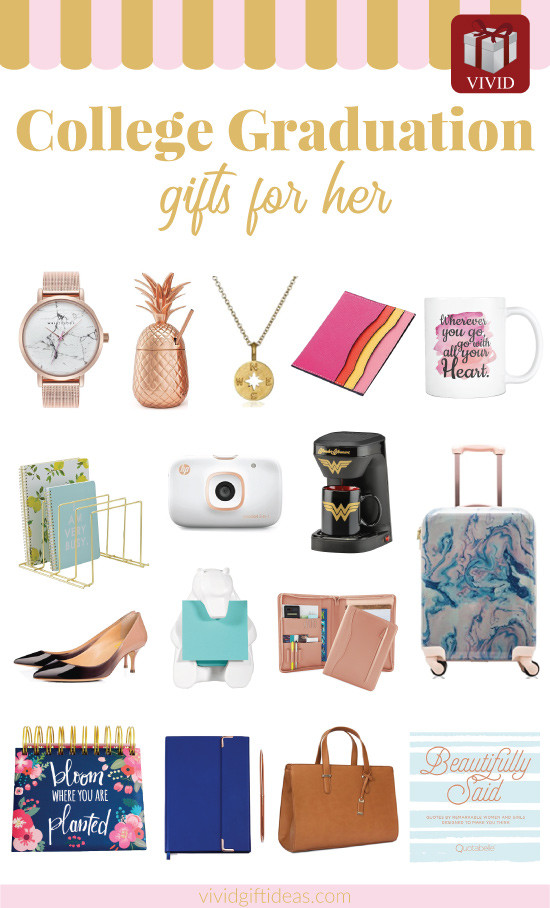 Grad Gift Ideas For Girls  19 Unique College Graduation Gift Ideas for Girls Vivid s