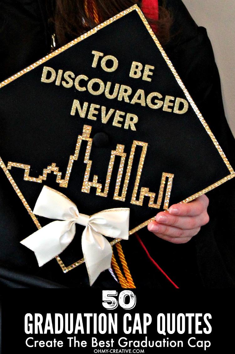 Graduation Cap Quotes  50 Graduation Caps Ideas And Quotes Oh My Creative