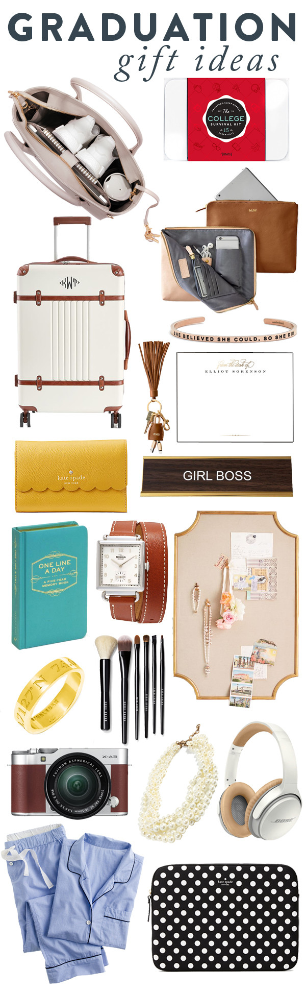 Graduation Gift Ideas For Girls  Graduation Gift Ideas Carly the Prepster