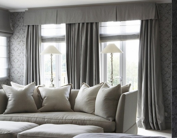 Gray Living Room Curtains  50 window valance curtains for the interior design of your