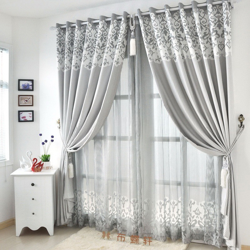 Gray Living Room Curtains  Graceful Living Room Suitable Light gray curtains