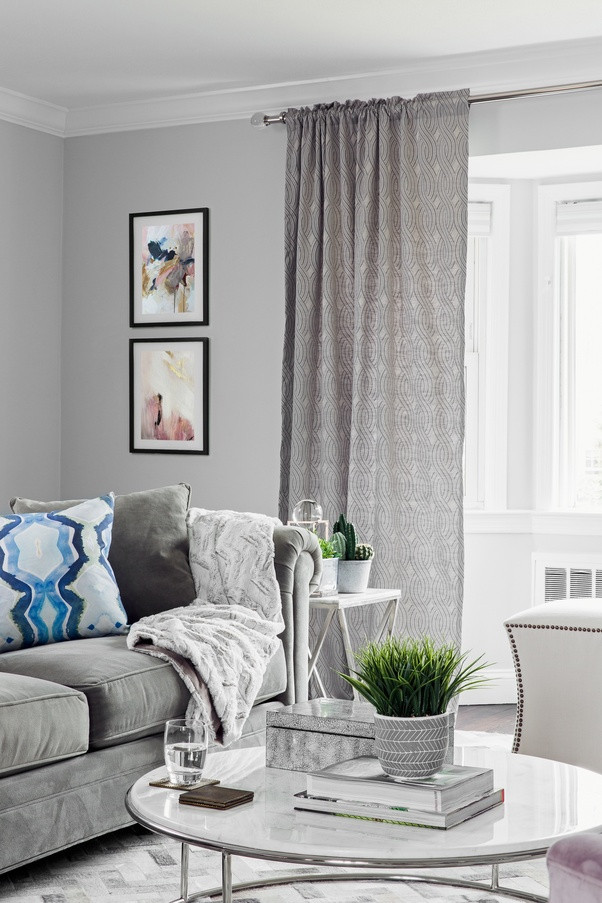 Gray Living Room Curtains  What color of curtains would go well with a gray colored