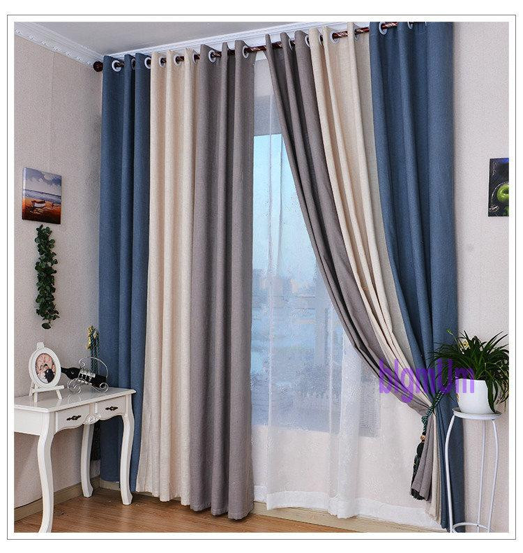 Gray Living Room Curtains  2019 Summer Style Linen Curtains For Living Room Blackout