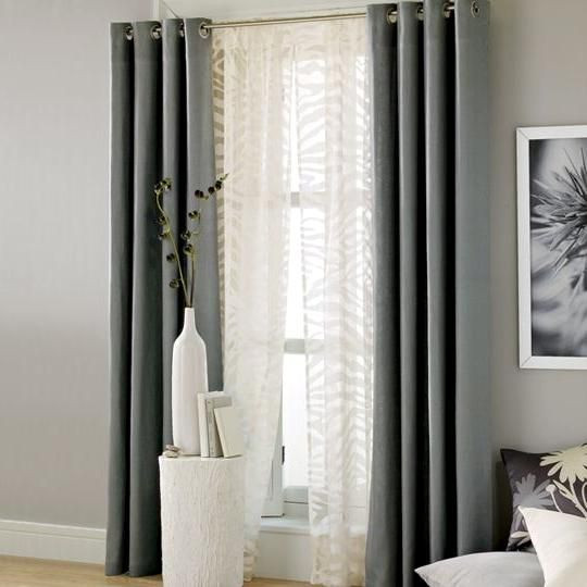 Gray Living Room Curtains  Grey Living Room Curtain Ideas