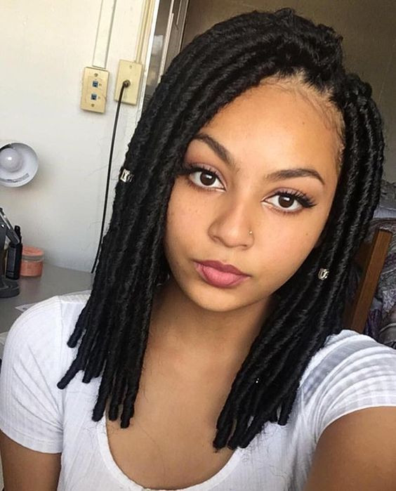 Hairstyles For Faux Locs Crochet  80 Long and Short Faux Locs Styles and How to Install Them