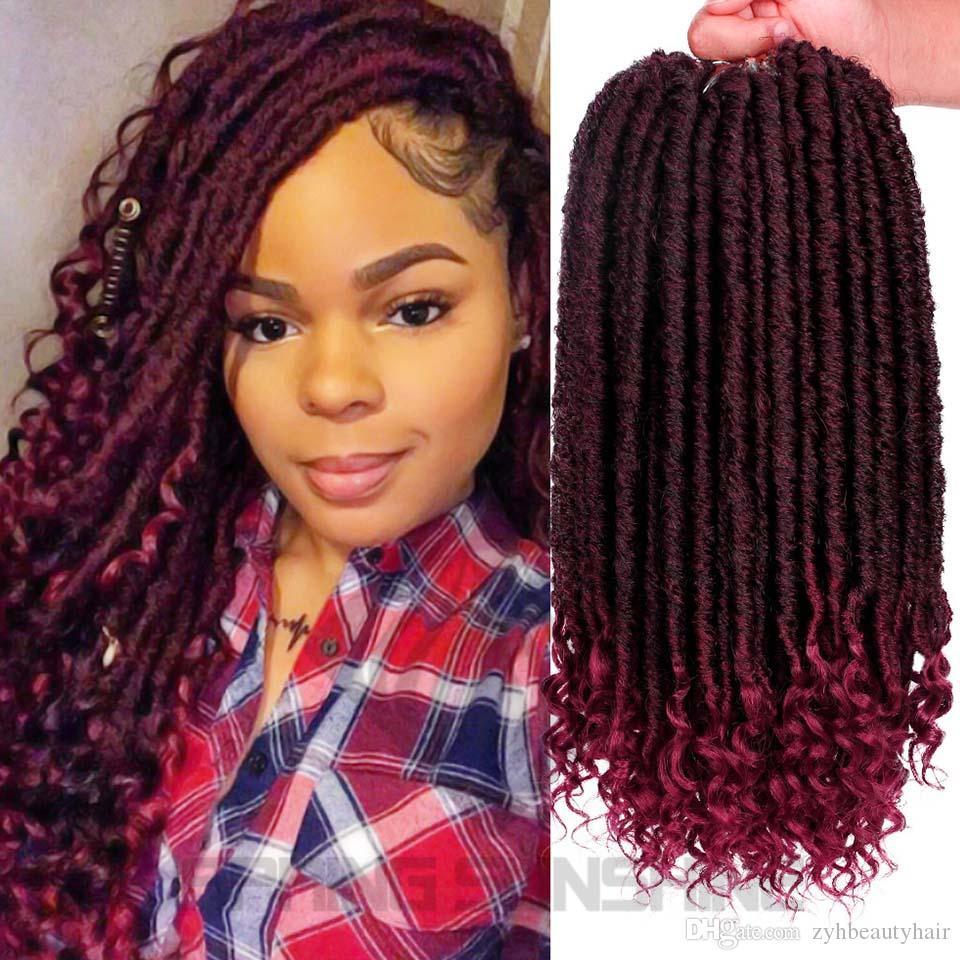 Hairstyles For Faux Locs Crochet  2019 Goddess Faux Locs Hair Crochet Dreadlocks Hair
