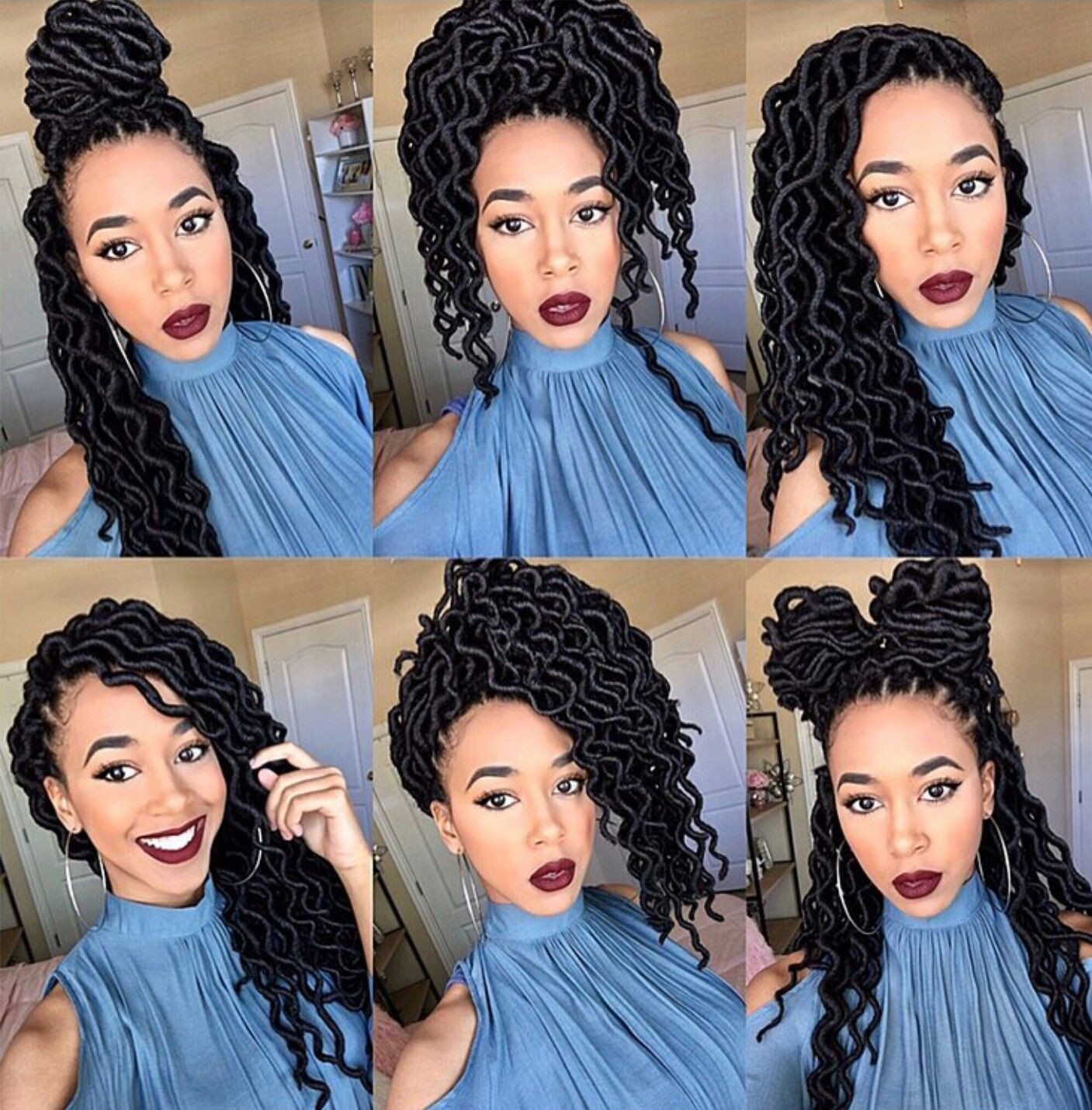 Hairstyles For Faux Locs Crochet  Faux locs Faux curly locs