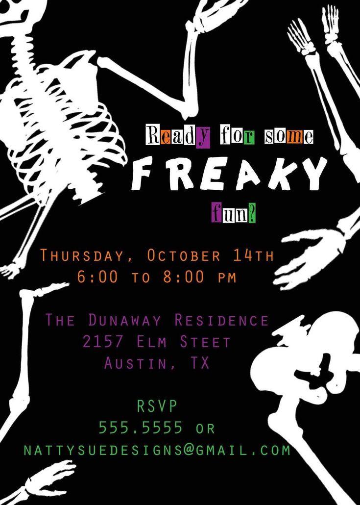 Halloween Birthday Party Invitation Ideas  172 best Party Invitation Wording images on Pinterest