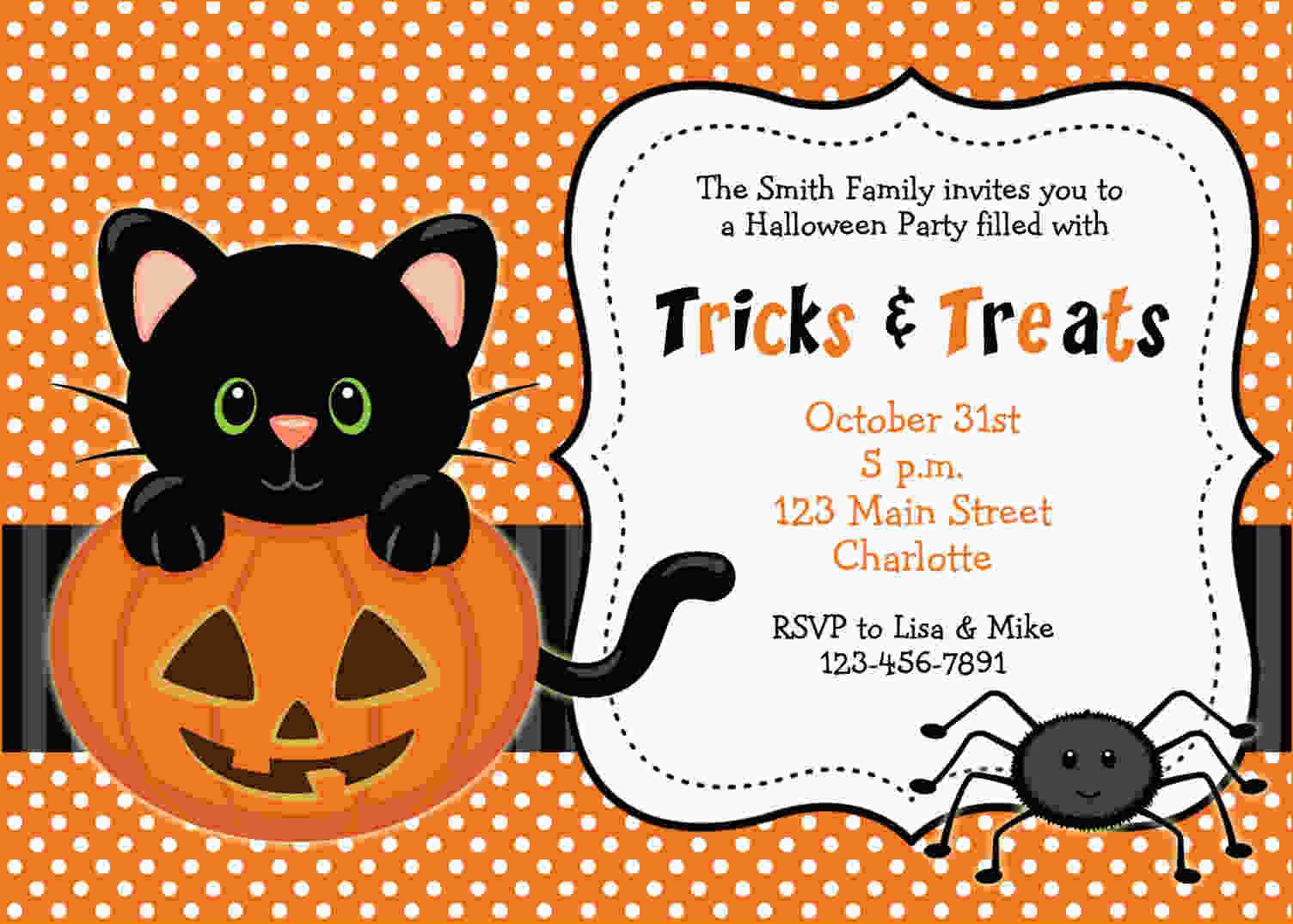 Halloween Birthday Party Invitation Ideas  FREE Printable Halloween Invitations Templates